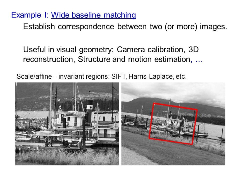 Semi-local constraints: Example I. – neighbourhood consensus [Schmid&Mohr, PAMI 1997]