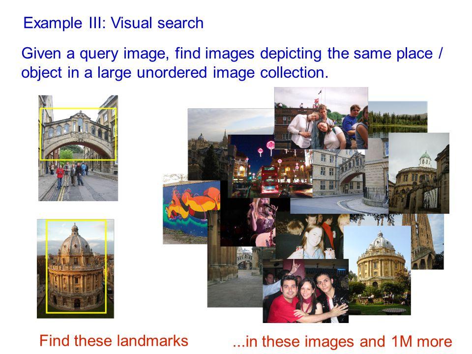 Semi-local constraints: Example II. [Ferrari et al., IJCV 2005] Model image Matched image