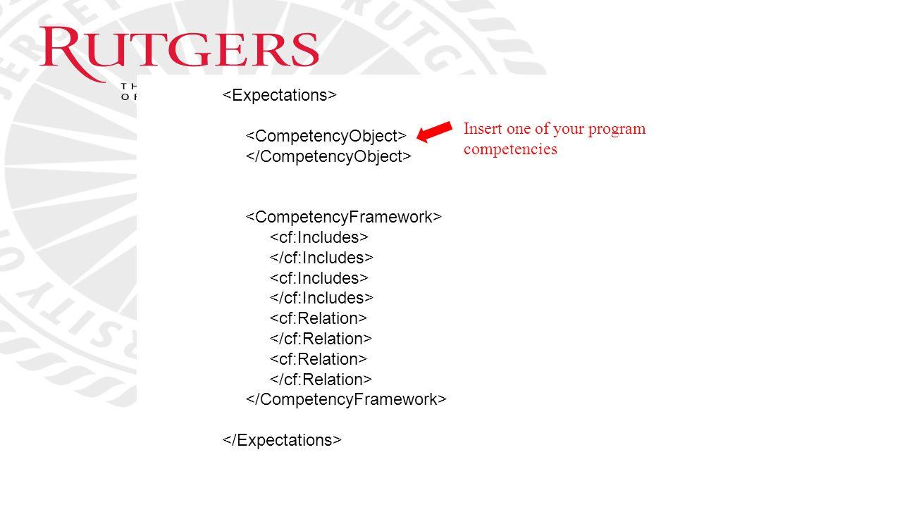 Insert one of your program competencies
