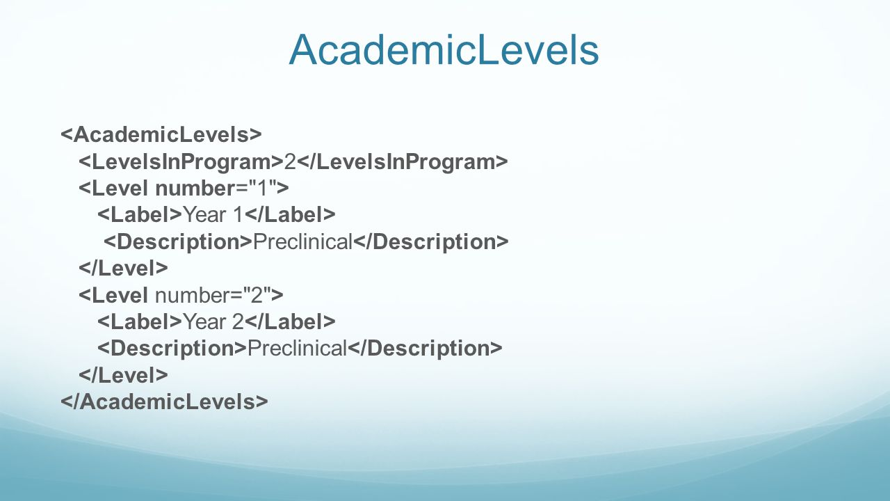 AcademicLevels 2 Year 1 Preclinical Year 2 Preclinical