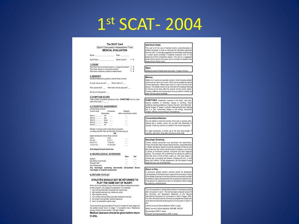 1 st SCAT- 2004