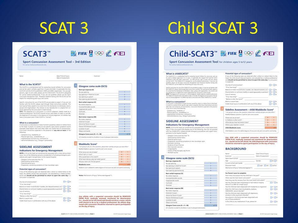 SCAT 3 Child SCAT 3