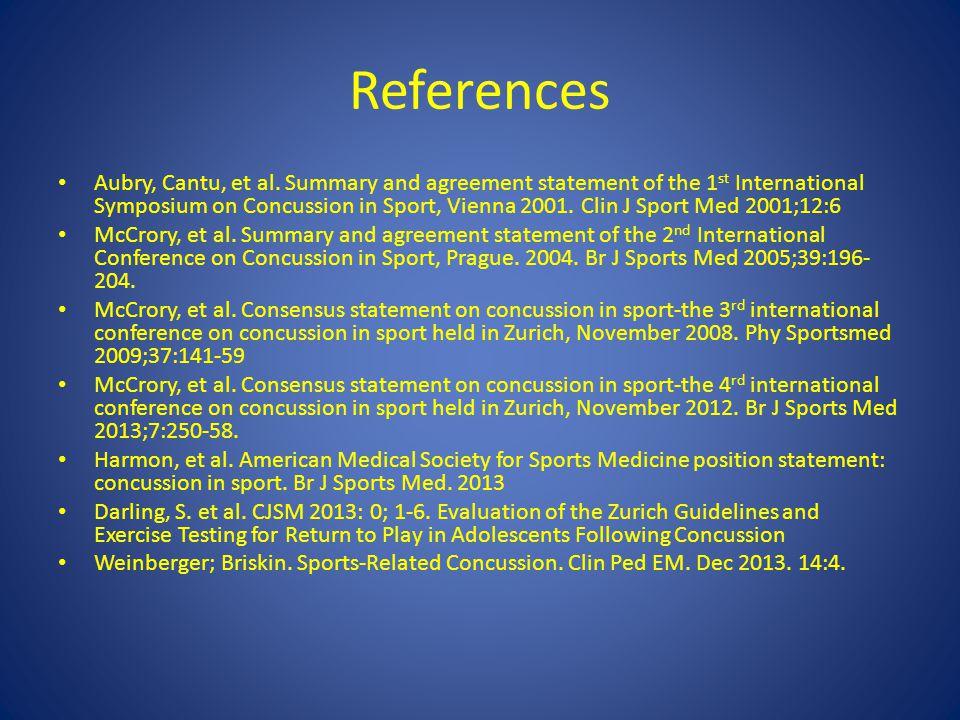 References Aubry, Cantu, et al.