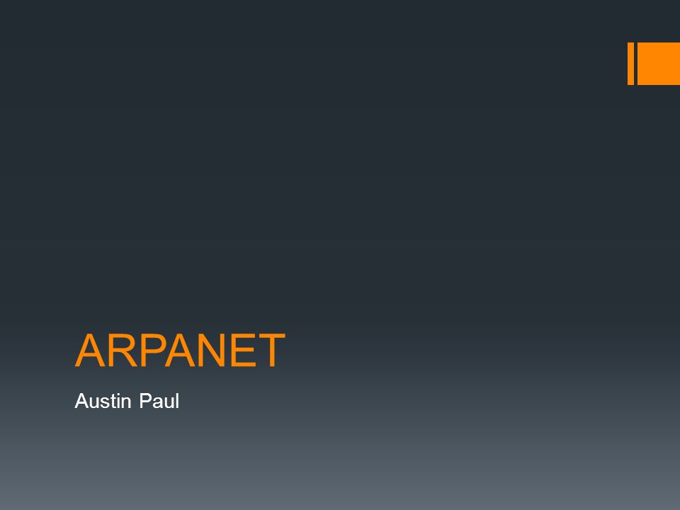 What is ARPANET.