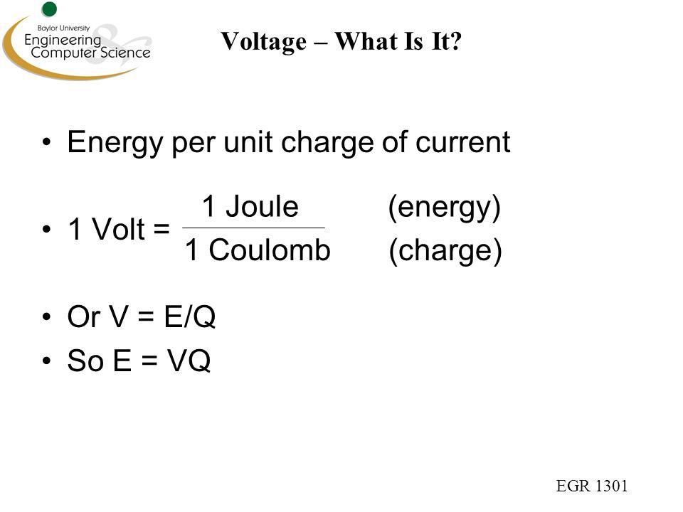 EGR 1301 Voltage – What Is It.