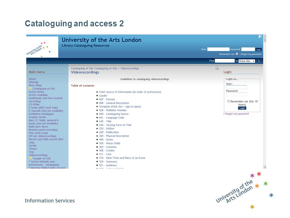 Cataloguing and access 2