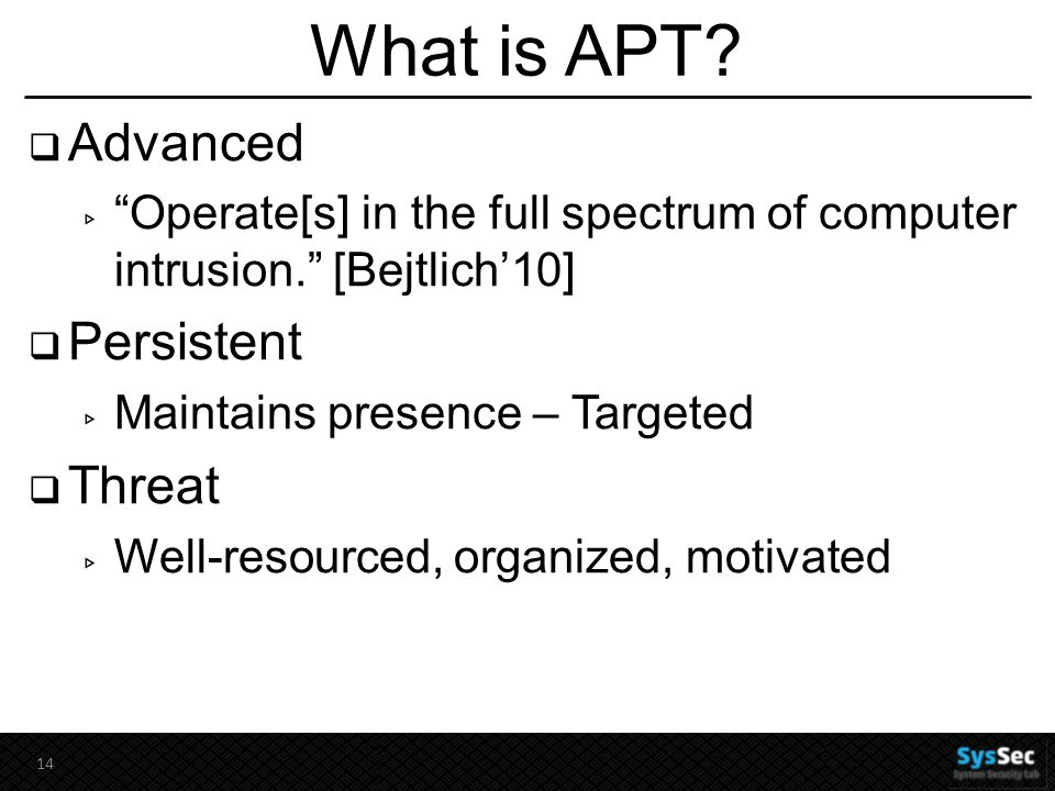 What is APT.