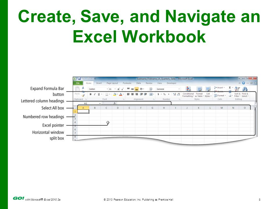 with Microsoft ® Excel 2010 2e © 2013 Pearson Education, Inc.