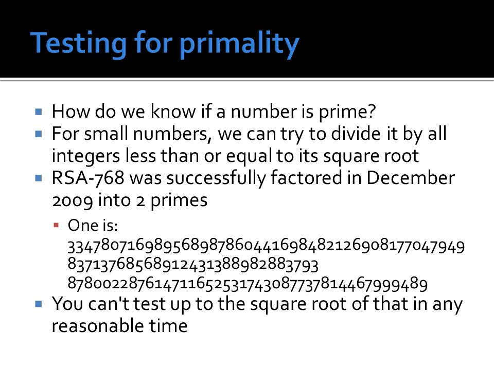  How do we know if a number is prime.