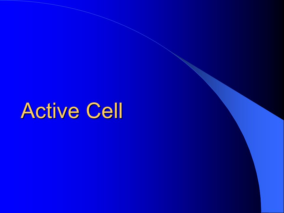 Active Cell Active Cell