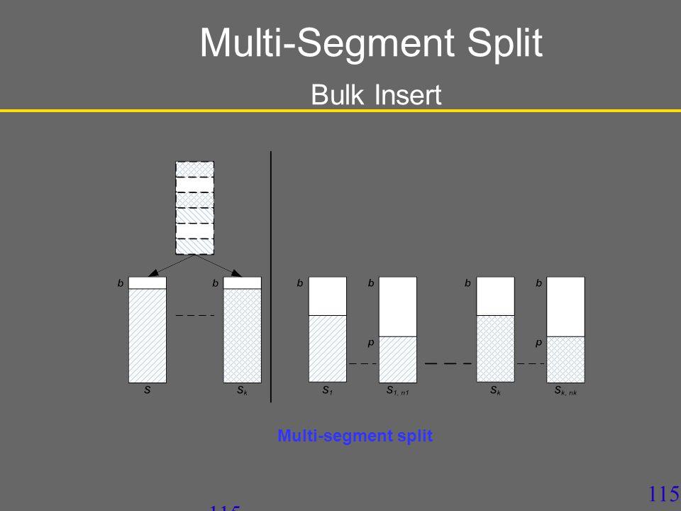 115 Multi-Segment Split Bulk Insert Multi-segment split