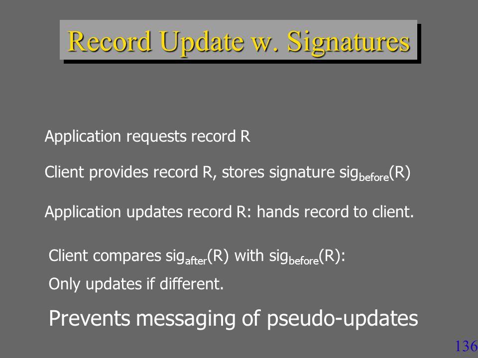136 Record Update w.