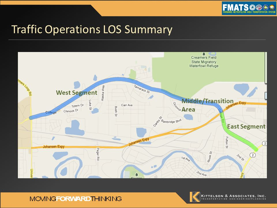Traffic Operations LOS Summary West Segment East Segment Middle/Transition Area