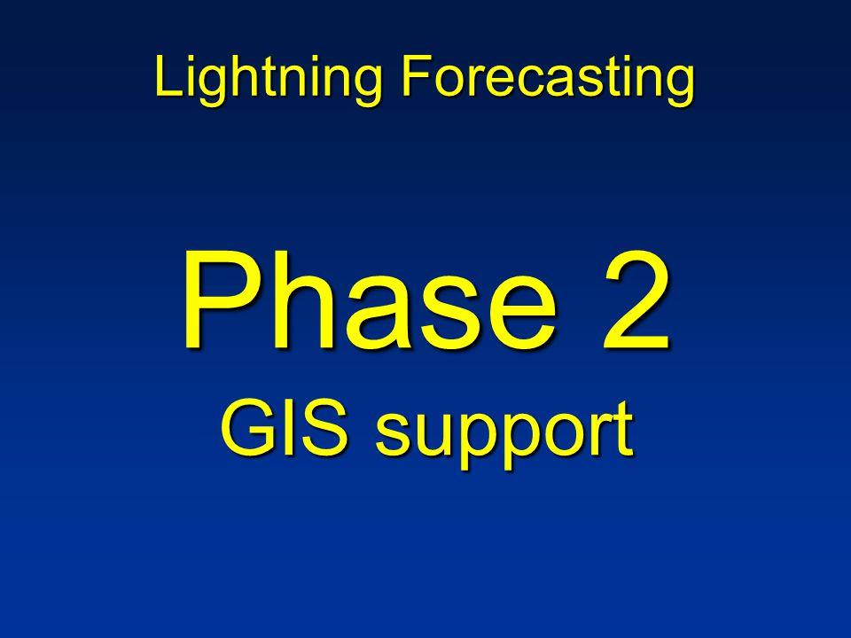 Lightning Forecasting Phase 2 GIS support
