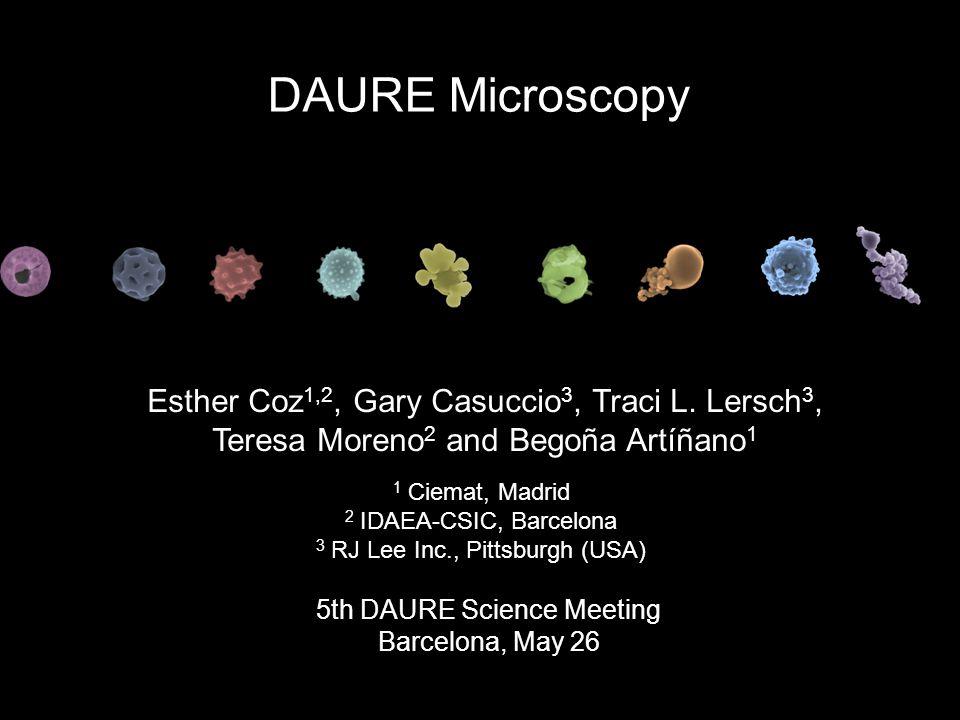Esther Coz 1,2, Gary Casuccio 3, Traci L.