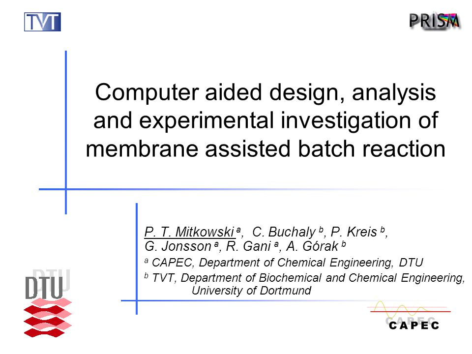 AIChE Annual Meeting, Salt Lake City, 3-7 November, 2007 2/26 Outline  Motivation  Objective  Methodology  Case study Problem analysis and design Experimental investigation  Conclusion