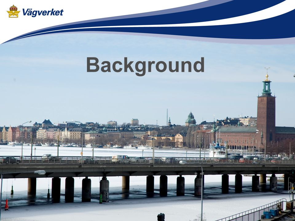 18 control points Vehicles are taxed when entering/ exiting the Stockholm city centre Stockholm - a City on water