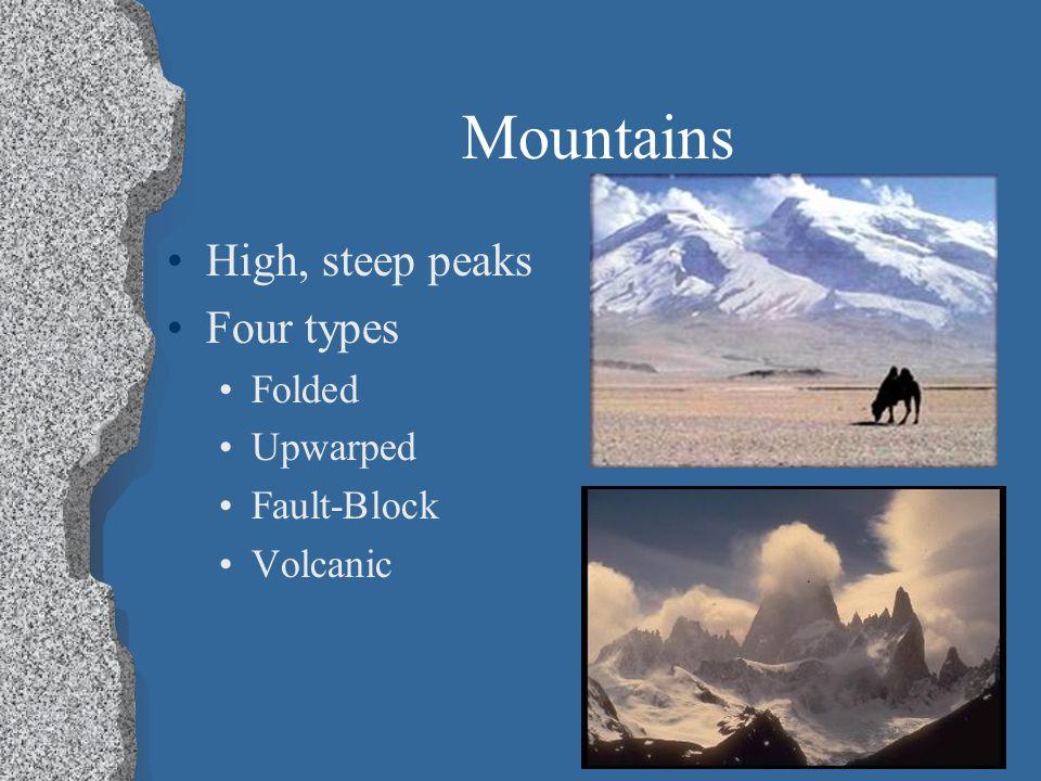 Four types of mountains