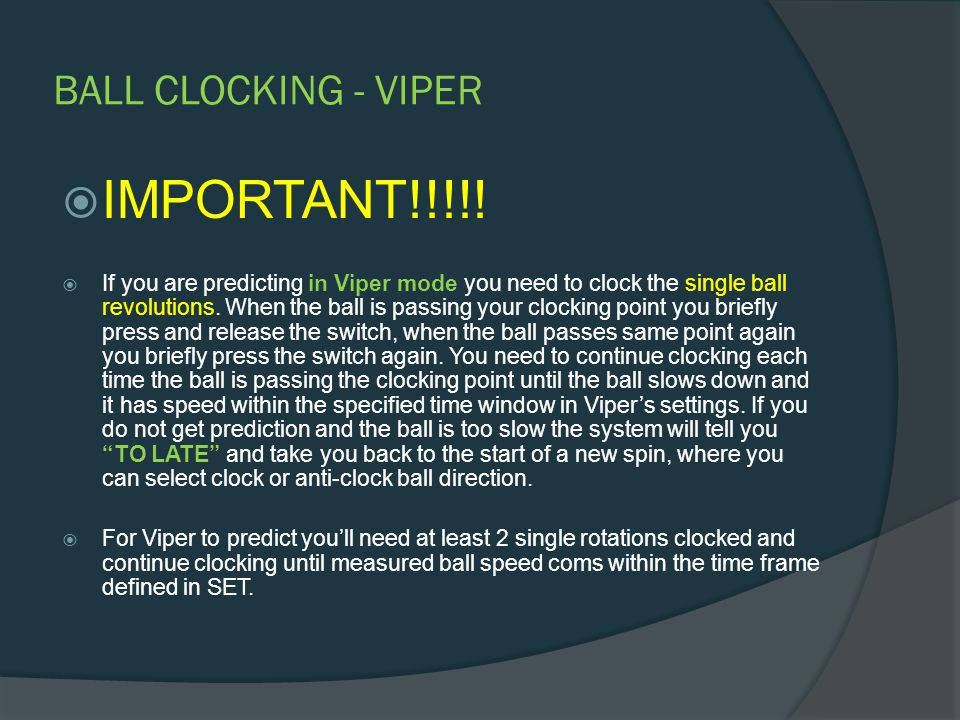 DOUBLE BALL CLOCKING  IMPORTANT!!!!.