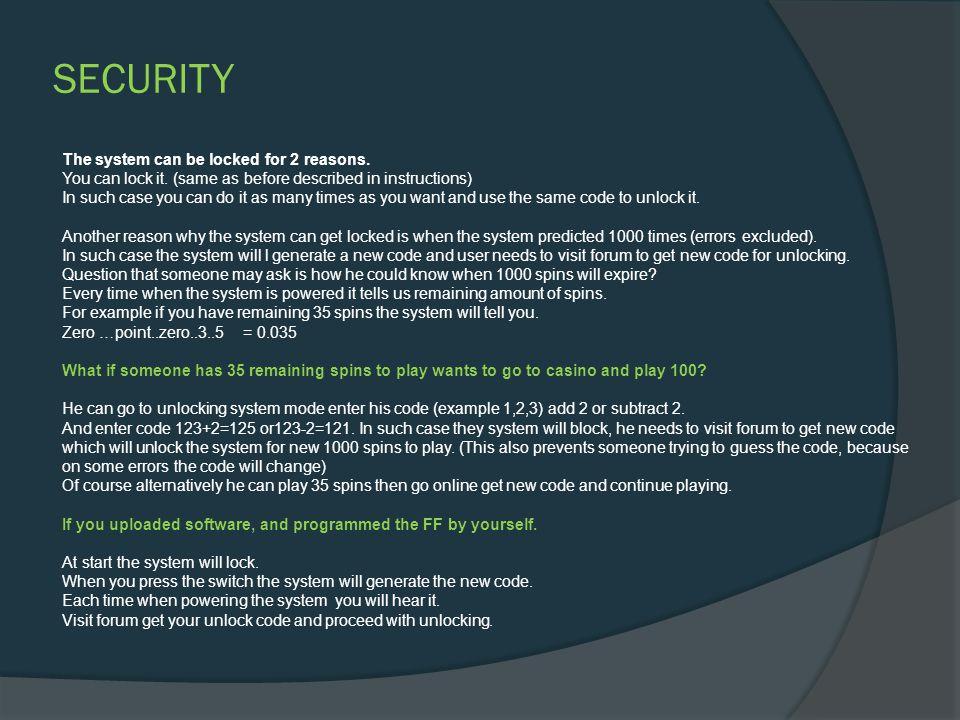 UNLOCKING Now software has an advanced lock-unlock system.