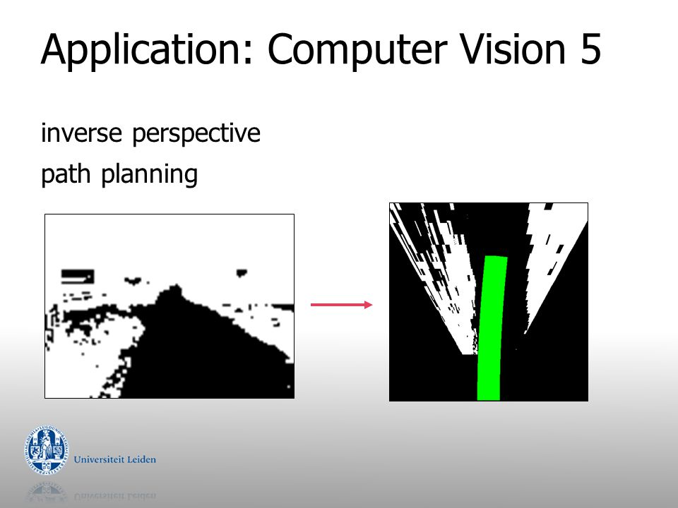 Application: Computer Vision 5 inverse perspective path planning
