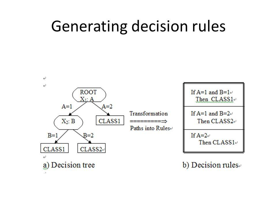 Generating decision rules