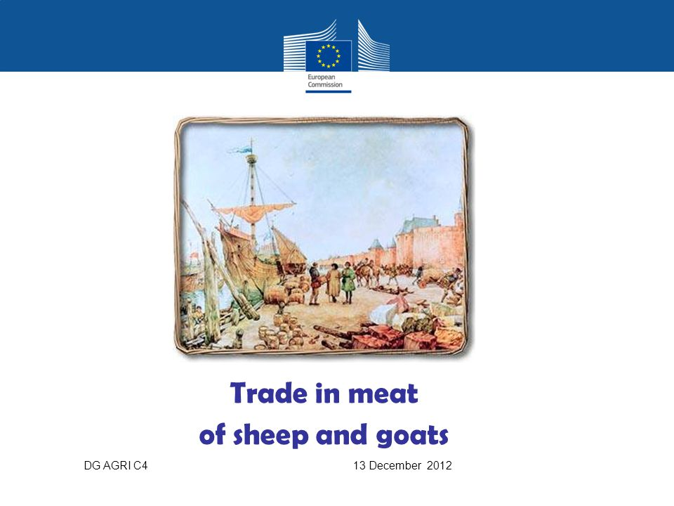 Trade in meat of sheep and goats