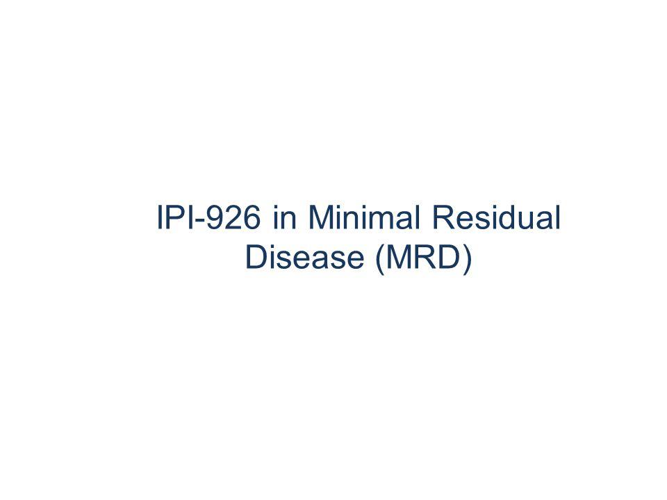 IPI-926 in Minimal Residual Disease (MRD)