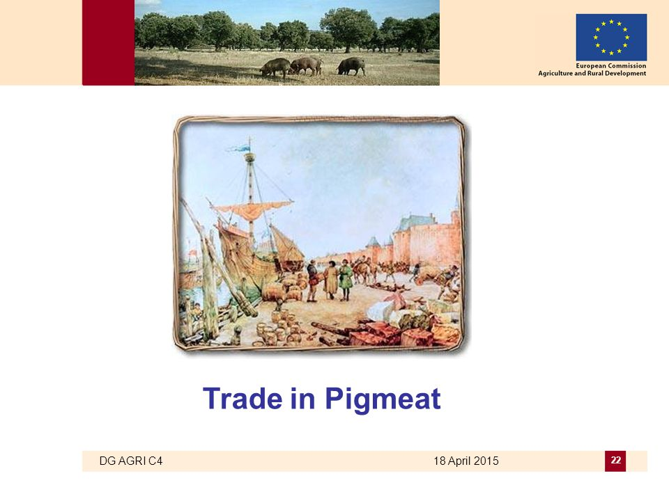 DG AGRI C4 18 April 2015 22 Trade in Pigmeat