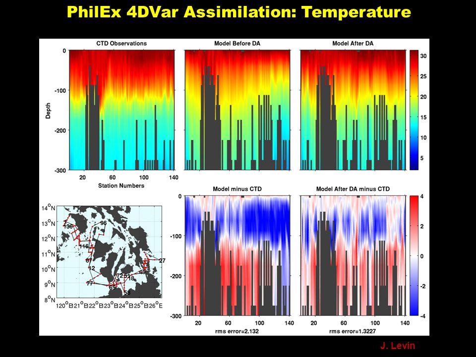 PhilEx 4DVar Assimilation: Temperature J. Levin