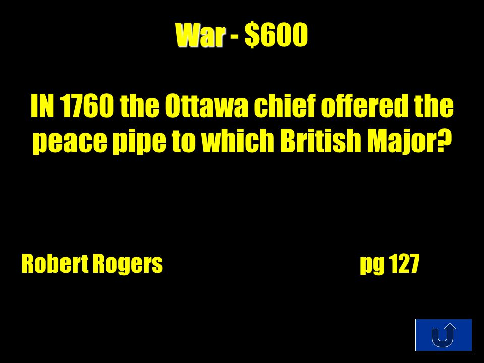C2-$200 War War - $400 What did the Proclamation of 1763 prohibit.
