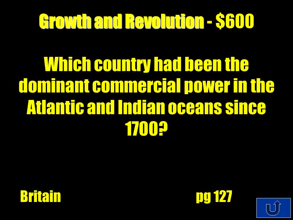 C3-200 Growth and Revolution Growth and Revolution - $400 To raise their standards of living, Americans used the profit from trading to buy English manufactures in what.