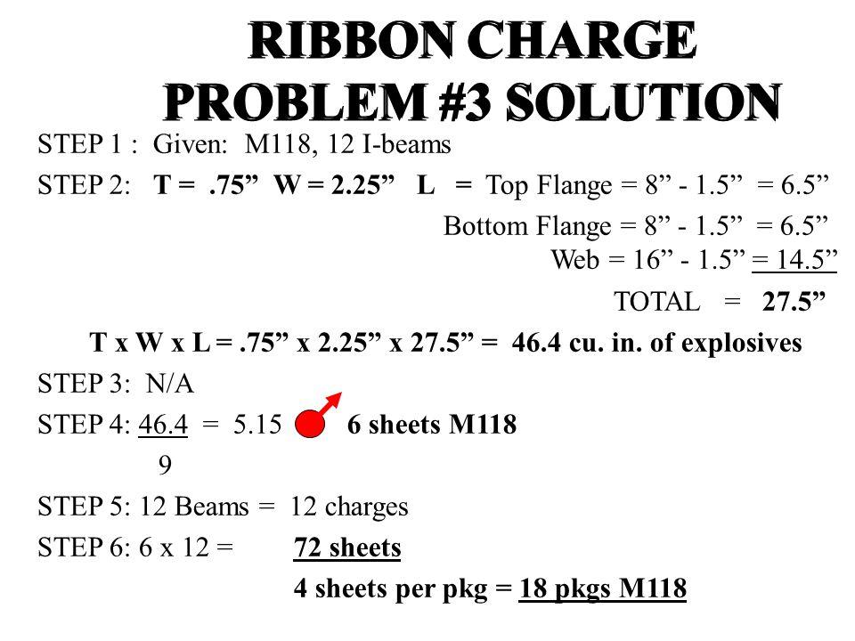 """STEP 1 : Given: M118, 12 I-beams STEP 2: T =.75"""" W = 2.25"""" L = Top Flange = 8"""" - 1.5"""" = 6.5"""" Bottom Flange = 8"""" - 1.5"""" = 6.5"""" Web = 16"""" - 1.5"""" = 14.5"""""""