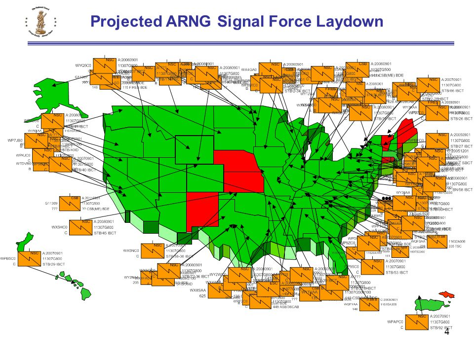 4 Projected ARNG Signal Force Laydown