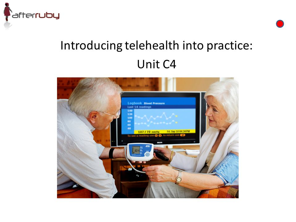 Introducing telehealth into practice: Unit C4