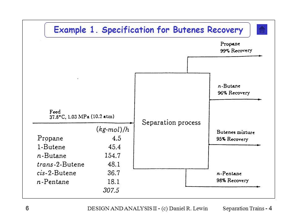 4 - Separation TrainsDESIGN AND ANALYSIS II - (c) Daniel R.
