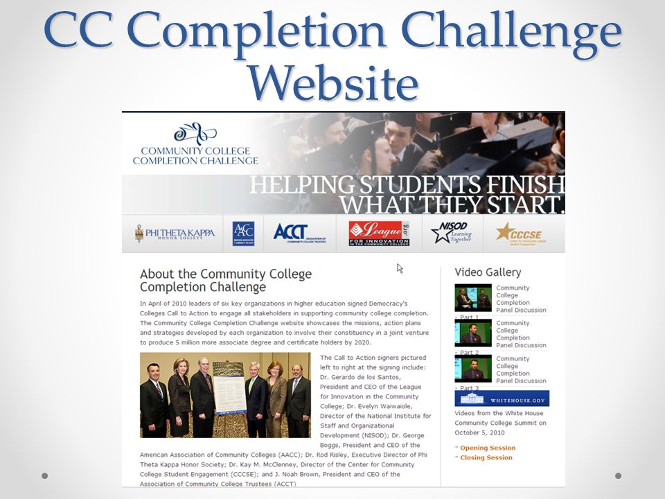 CC Completion Challenge Website