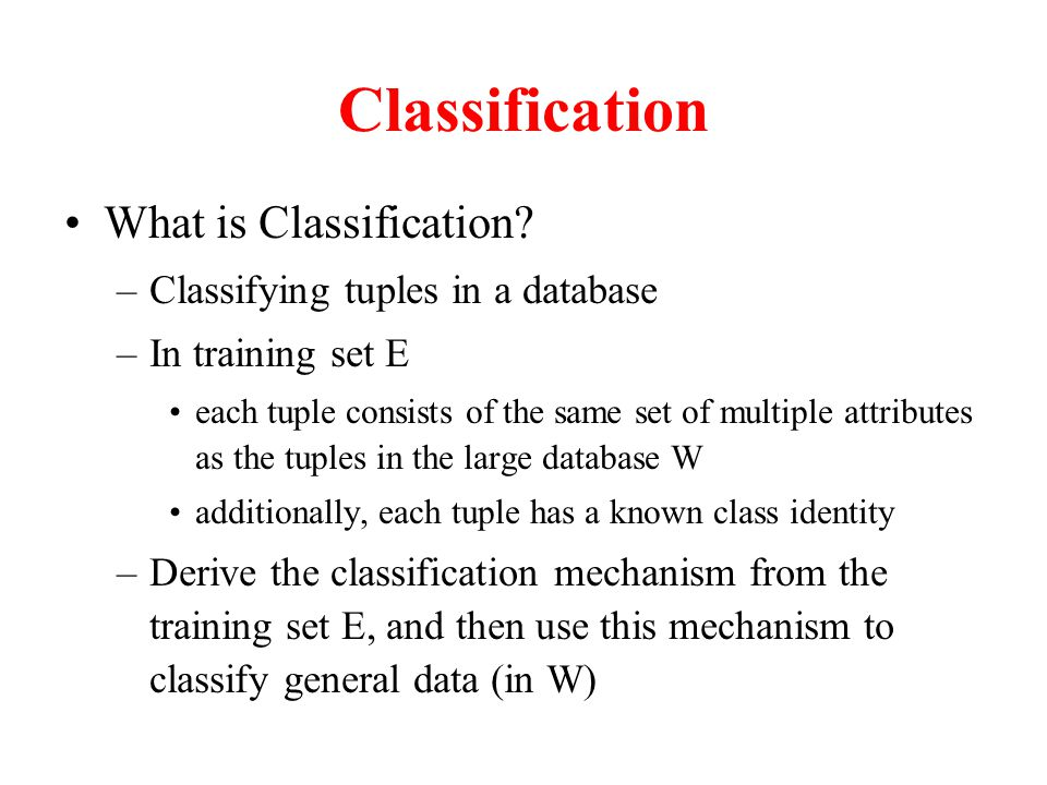 Classification What is Classification.