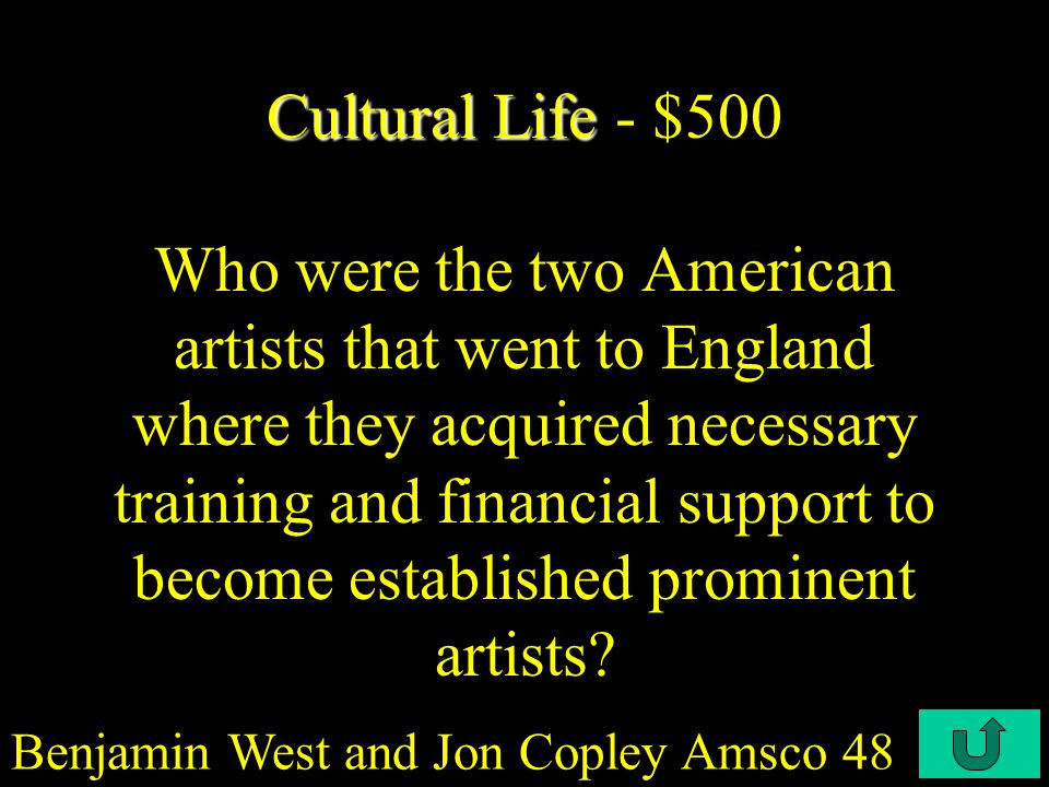C4-$400 Cultural Life Cultural Life - $400 Most authors in 1730-1740 wrote about serious subjects mainly being ______.