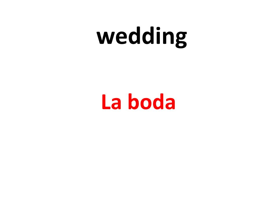 wedding La boda
