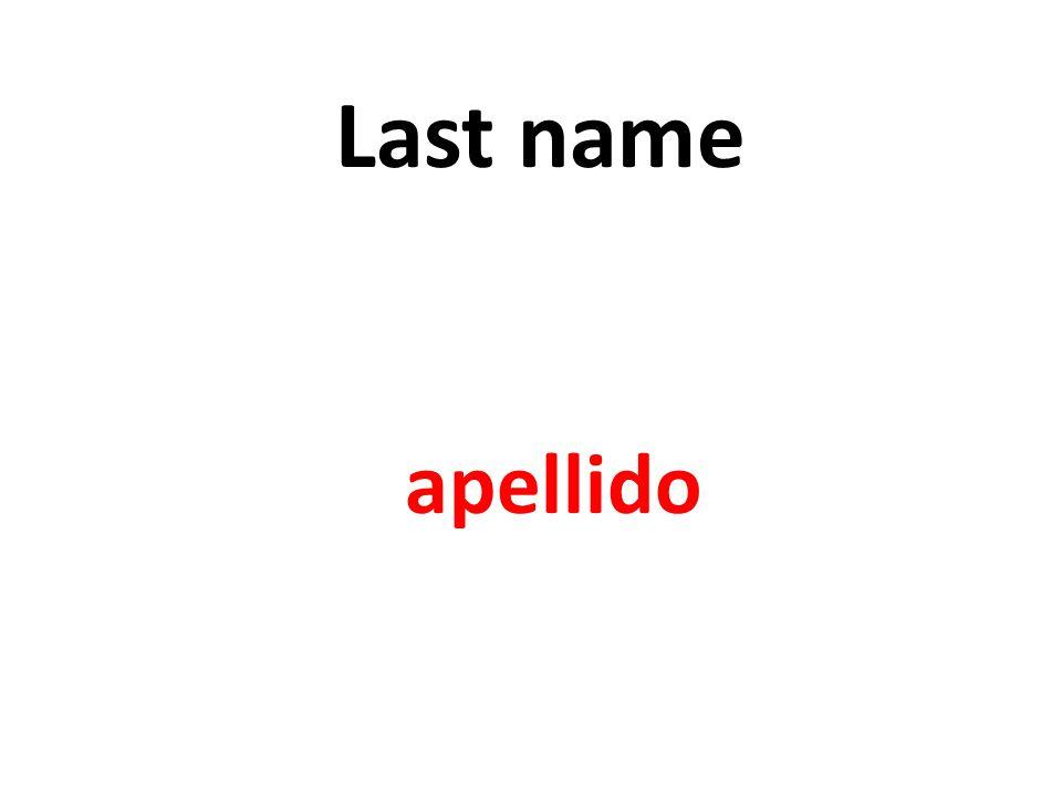 Last name apellido