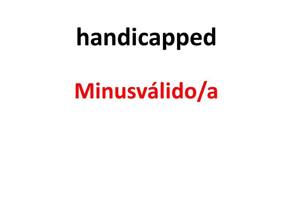 handicapped Minusválido/a