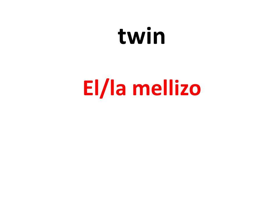 twin El/la mellizo