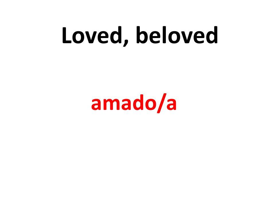 Loved, beloved amado/a