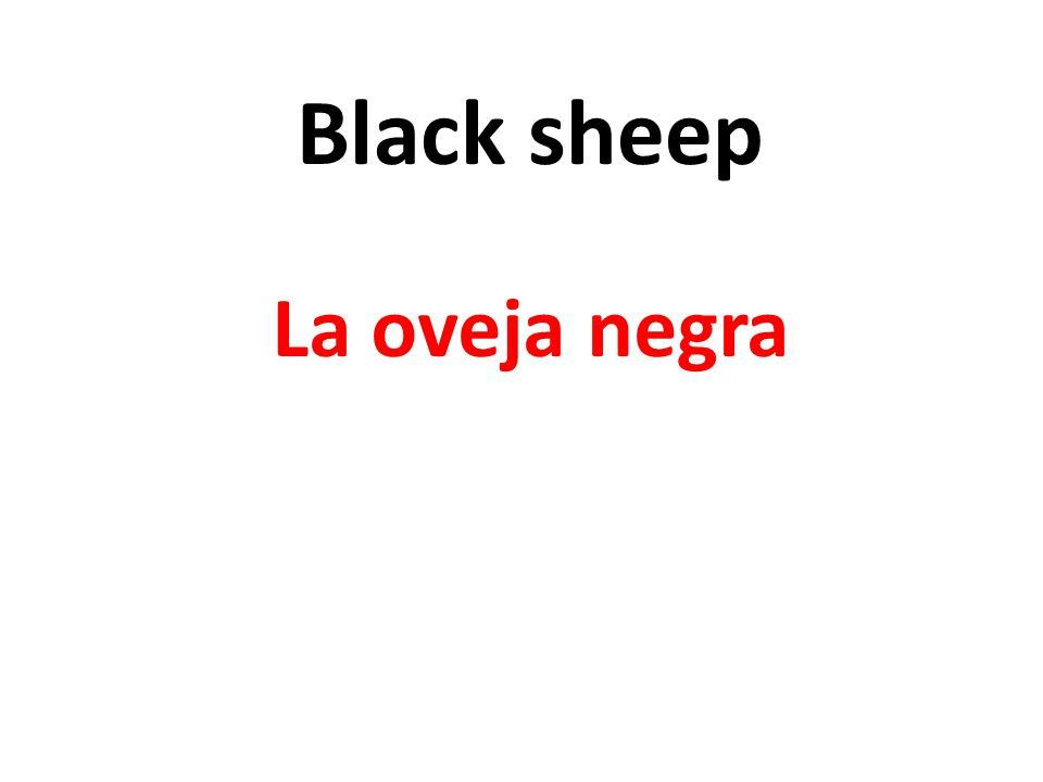 Black sheep La oveja negra