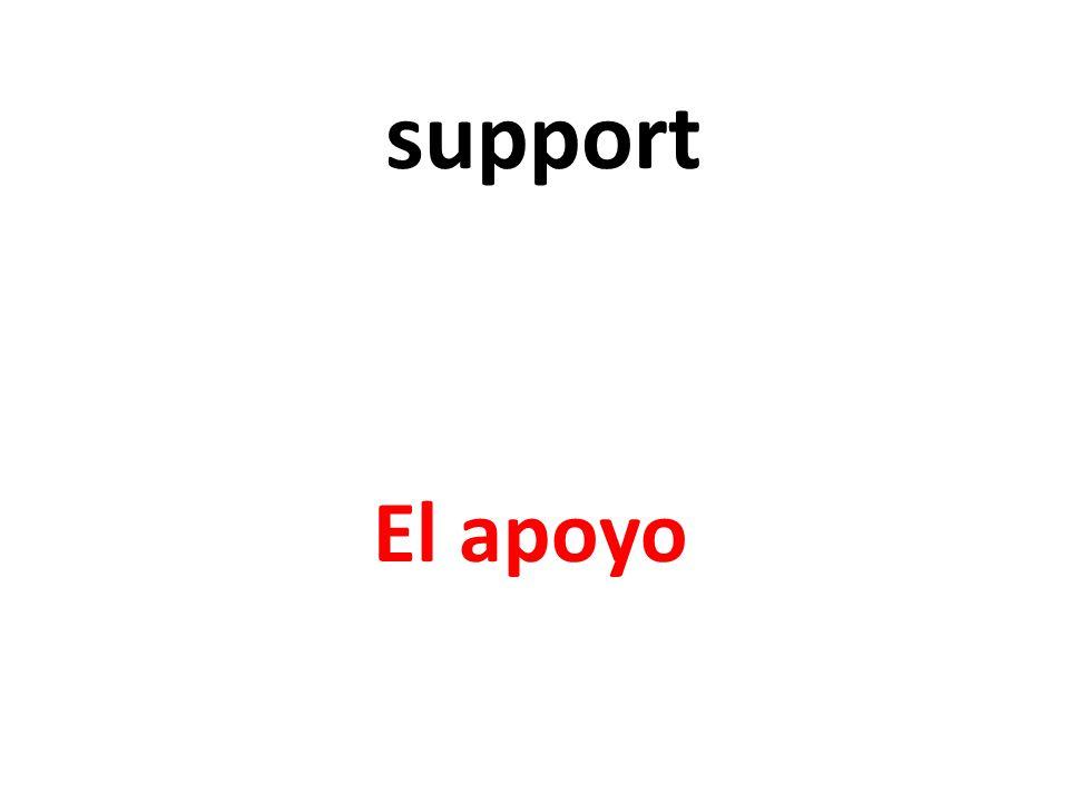 support El apoyo