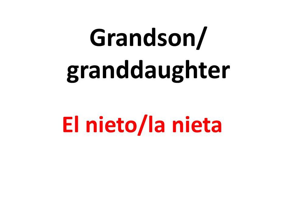 Grandson/ granddaughter El nieto/la nieta