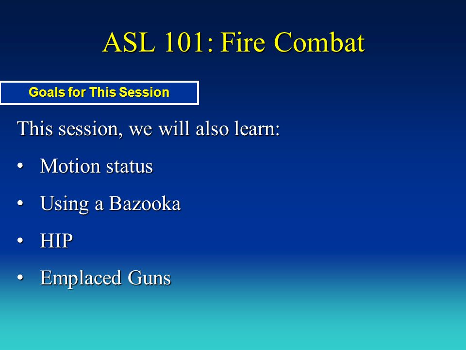 ASL 101: Fire Combat Example of MA/Gun Firing Prep Fire: AFV fires at 747 in Stone Bldg.