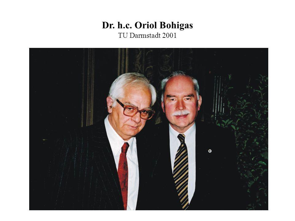 Dr. h.c. Oriol Bohigas TU Darmstadt 2001