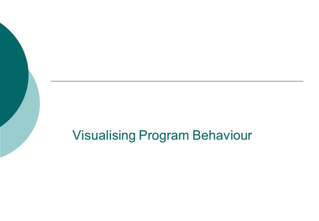 Visualising Program Behaviour